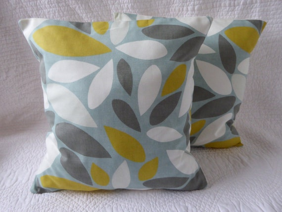 Cushion Pillow Cover 16 18 Duck Egg Blue Saffron