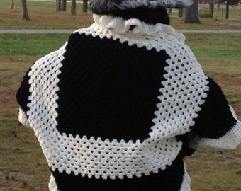 Classy black and white cardigan