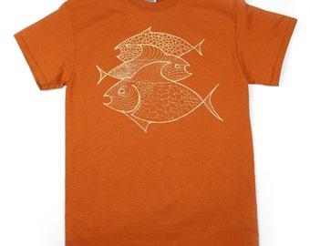 Three Fish: Mens 100% Cotton Tee