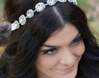 Bride Headpiece, Wedding Headband, Jeweled Headpiece, Jeweled Headband, Bride Headband, Bridal Headband, Rhinestone Headpiece