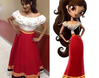 The Book of Life Maria Posada Dress Cosplay Costume