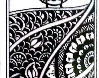 Owl keep your place - handmade laminated bookmark