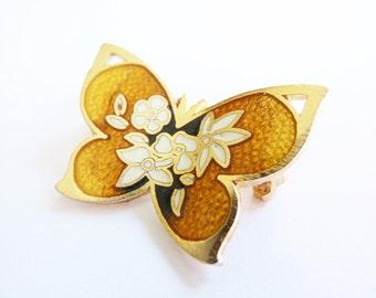 Vintage Butterfly Brooch 1950s