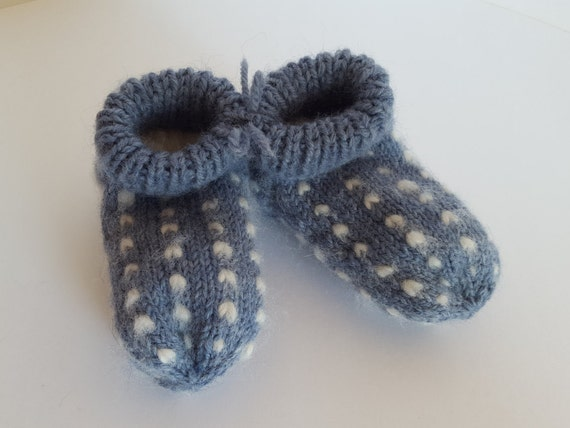 Items similar to Thrummed Baby Slippers/Socks READY TO SHIP. Baby Slippers. H...