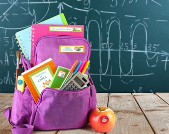 School supplies labels, School Supplies, Lunch Labels, School labels, supplies labels, Personalized School Labels, name labels, labels