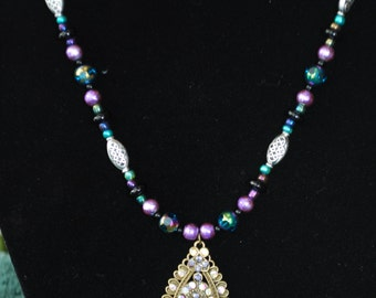 Beaded Necklace - Purple Paradise