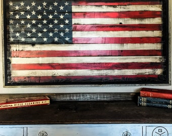 Wood American Flag // American Flag Wall Art // American Flag Wood // Rustic American Flag // US Flag // American Flag Art // Rustic US Flag