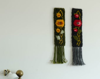Vintage woven wall hangings