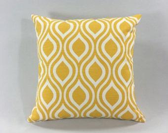 Yellow Throw Pillow Cover -Nicole Corn Yellow - Decorative Throw Pillow Cover - Accent Pillow - Premier Prints - Hidden Zipper -Custom Sizes