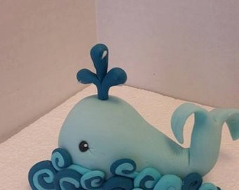 Baby Whale Edible Cake Topper