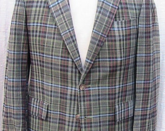 "38 Neiman Marcus ""oneup"" Fully Lined MADRAS JACKET"