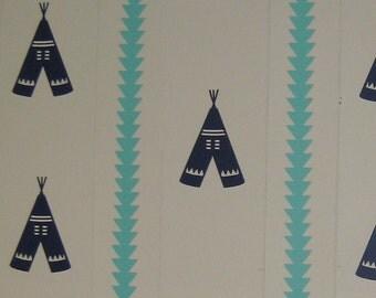 Teepee Decal, Boho Wall Decal, Tribal Decor, Bohemian Sticker, Native American Tipi, Boho Tepee