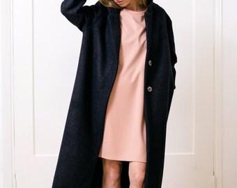 Gray coat Women's gray coat Wool coat Winter coat Women's jacket Maxi coat Maxi jacket Long gray coat Long coat Oversized coat Relaxed coat