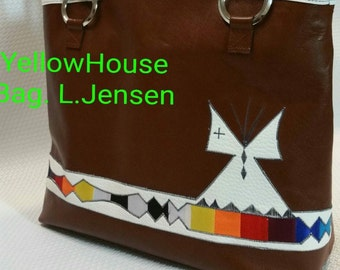 Leather Teepee Tote: Native American Made