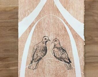 Birds, Love birds, Wedding Gift, Anniversary Gift,