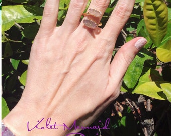 Druzy - ring ~ druzy double ring