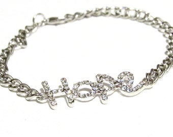 "Rhinestone Bracelet-""Hope""- Inspired Collection"