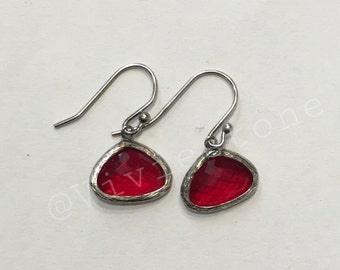 925 Silver earrings with whimsical Crystal