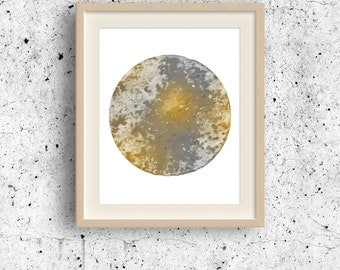 Jupiter watercolor, Planet print, Planet wall art, Solar system, Planets collection, World globe print, Cosmos Wall Art, Minimalist Painting