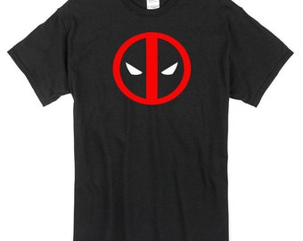 Deadpool T-Shirt black icon logo 100% cotton