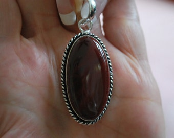 Mahogany Obsidian Gemstone Pendant!