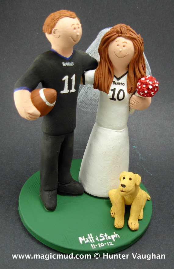 Ravens Wedding Cake Topper