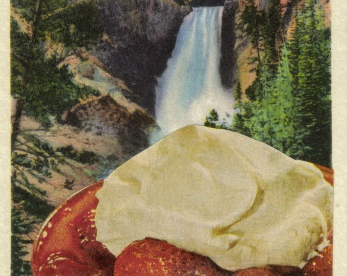 Yellowstone Waterfall, Surreal Food Art Collage, Yummy Artwork