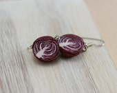 Red Cabbage Earrings