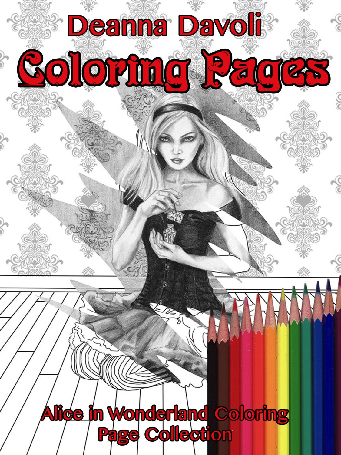 alice in wonderland coloring page coloring pages white