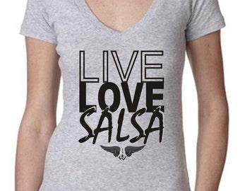 Live Love Salsa V Neck