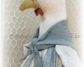 Henny Penny A primitive Chicken Folk Art Pattern~NEW~