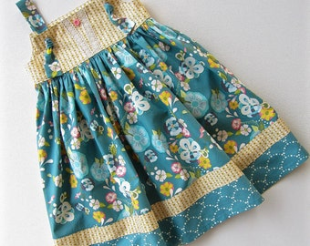 Knot Dress Floral Flots   Available sizes: 12 months - 6  Handcrafted by Valeriya