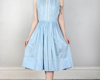 Baby Blue Dress with Lace