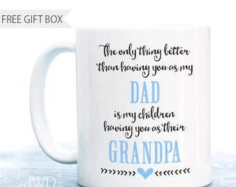 Grandpa Gift Personalized Coffee Mug Gift for Grandpa Personalized Dad Gift from Daughter Grandfather Quote #CM503