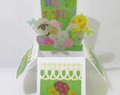 Easter Pop Up Greeting Card In Box Table Top Decor