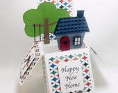 New Home Pop Up Greeting Card Happy New Home Keepsake Custom Moving Card QueenBeeInspirations