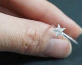 Tiny Star Ring, Sterling Silver Ring, Star Jewelry, Ring, Sterling Silver, Silver Ring, Star Ring, Stacking Ring, size 7.25