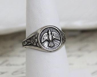Silver Dove Ring