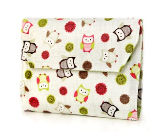 Simple Owls Deluxe Crayon Wallet, Easter gift, Ready to ship, Crayon organizer, Children's coloring toy, Art wallet, Travel toy