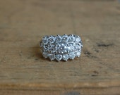 Vintage retro 14K diamond cluster cocktail ring ∙ vintage RINGCRAFT diamond ring