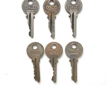Six Vintage Yale Keys