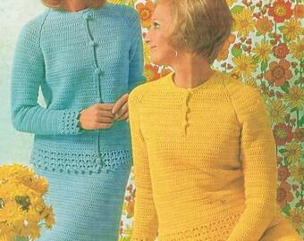 Vintage 70's CROCHET PATTERN - Women's Wear - Patons 866