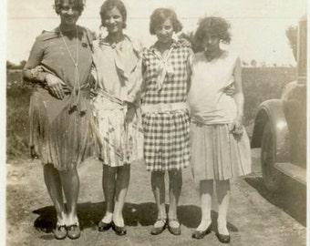 "Vintage Photo ""Wild Hair Bunch"" Girl Snapshot Photo Old Antique Photo Black & White Photograph Found Photo Paper Ephemera Vernacular - 140"
