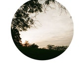 "Hilltop Sunset Circle Print - 8""x12"" Physical Print"