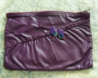 Purse Purple Restyled Assemblage Redesigned Envelope Clutch Repurposed Earrings Everyday Casual Gift Guide Women
