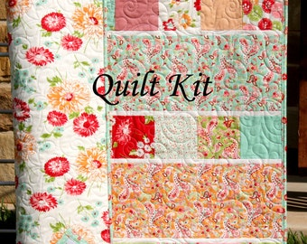 Quilt Kit Scrumptious Baby Girl Patchwork Bonnie and Camille Moda Fabrics Paisley Flowers Showcase OOP out of print HTF hard to find DIY