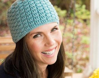 Crochet Pattern ~ Woman's Petite Basketweave Beanie ~ Crochet Pattern