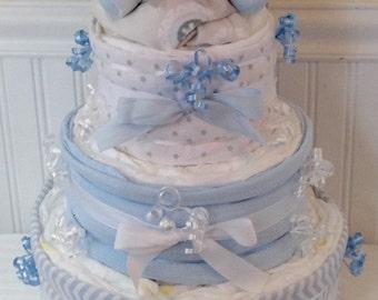 Elephant Diaper Cake-3 Tier Diaper Cake