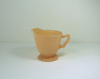 Vintage RAiNBOW BLUSH Pink CREAMER Fire King Fired On Color Glass Rainbow Pastels