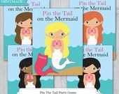 Pin the Tail on the Mermaid Printable Party Game - Mermaid Birthday Party - Under the Sea Party - Mermaid Birthday Game - Instant Download